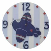 Wish Upon A Star Plane Wall Clock