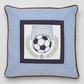 Whistle and Wink Vintage Sports Deco Pillow