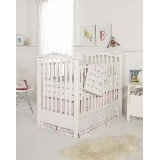 Tufted  Pink and Green 3 Piece Crib Bedding Set