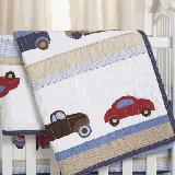 Cars and Trucks Crib Quilt