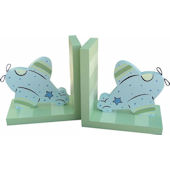 Wish Upon A Star Airplane Bookends