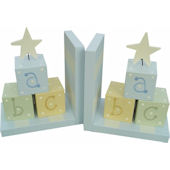 Wish Upon A Star Boys ABC Blocks Bookends