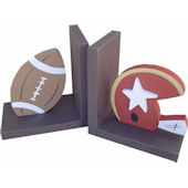 Wish Upon A Star Football Espresso  Bookends