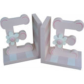 Wish Upon A Star Pink Initals Bookends