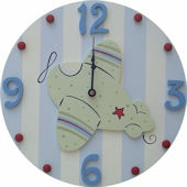 Wish Upon A Star Airplane Wall Clock