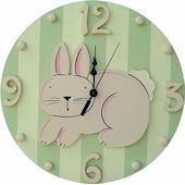 Wish Upon A Star Bunny Wall Clock