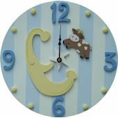Wish Upon A Star Cow Over The Moon Wall Clock