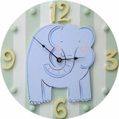 Wish Upon A Star Elephant Wall Clock
