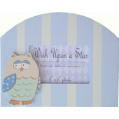 Wish Upon A Star Blue Owl Picture Frame