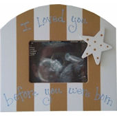 Wish Upon A Star Blue Chocolate Sonogram Frame