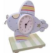 Wish Upon A Star Airplane Table Clock