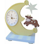 Wish Upon A Star Cow Over The Moon Table Clock