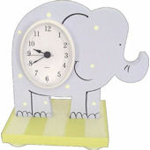 Wish Upon A Star Elephant Table Clock