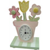 Wish Upon A Star Flower Pot Table Clock