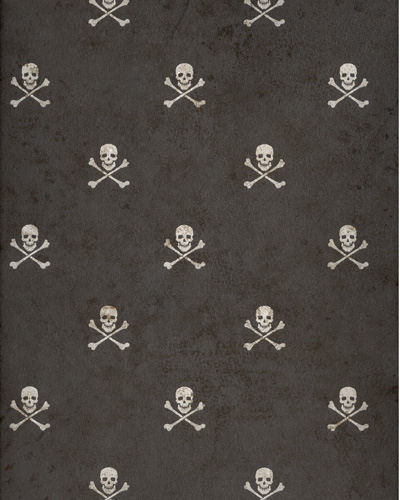 Black Skull and Cross Bones Wallpaper - The Frog and the ...