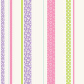 Patterned Stripe Lavender Wall Paper