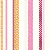 Patterned Stripe Orange Pink Wall Paper