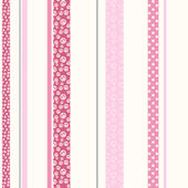 Patterned Stripe Pink Wall Paper