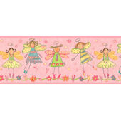 Pink Fairy  Wall Paper Border