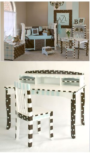 Cocoa Cabana Desk and Chair Set