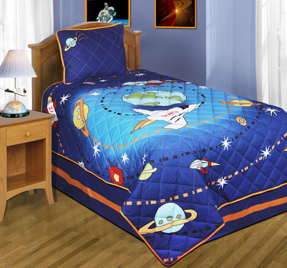 Zz Home Journey On The Space Bedding Set The Frog And